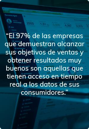 Empresas que alcanzan objetivos y buenos resultado, tienen acceso a los datos de sus consumidores